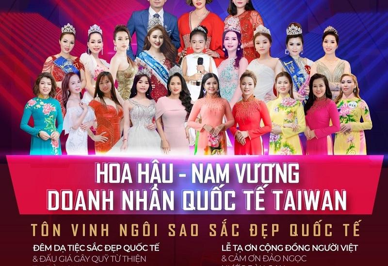 Cuộc thi Hoa hậu - Nam vương doanh nhân quốc tế Taiwan quy mô diễn ra tháng 12/2019 tại Đài Loan